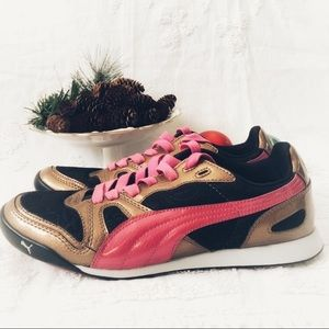 Puma Bronze & Pink Athletic Shoe